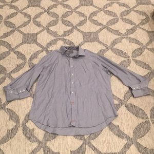 Other - Thomas Dean - Gray and White Button Down Shirt
